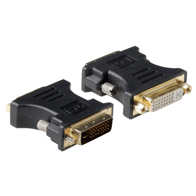 ACT Verloop adapter DVI-I female naar DVI-I male, Zwart Kabel adapter
