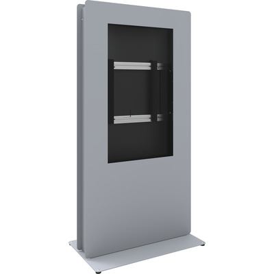 SmartMetals SmartKiosk Portrait voor 55 inch flat panels TV standaard - Grijs, Zilver