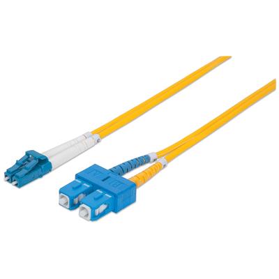 Intellinet Fibre Optic Patch Cable, Duplex, Single-Mode, LC/SC, 9/125 µm, OS2, 5m, LSZH, Yellow Fiber optic .....