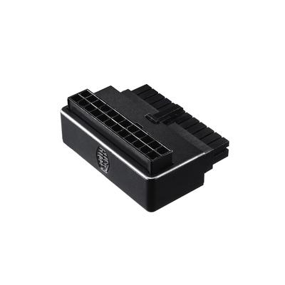 Cooler Master ATX 24 Pin - ATX 24 Pin, M/F, 90°, Black Kabel adapter - Zwart