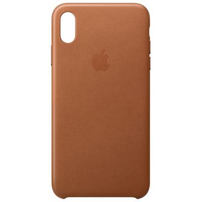 Apple mobile phone case: Leren hoesje voor iPhone XS Max - Zadelbruin