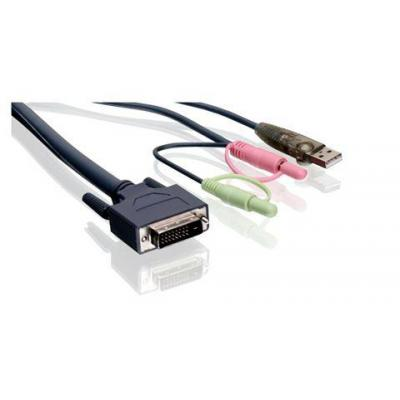 Iogear 6' Dual-Link DVI KVM Cable, with USB and Audio/Mic KVM kabel