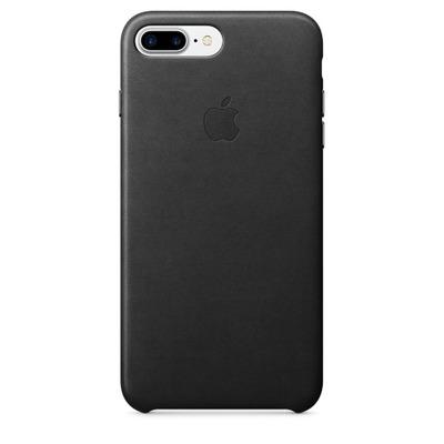 Apple mobile phone case: Leren hoesje voor iPhone 7 Plus - Zwart