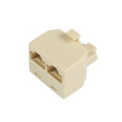 Microconnect RJ45/2 x RJ45 Netwerk splitter - Beige
