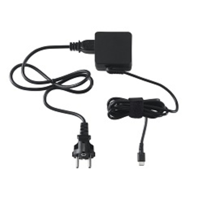 Dynabook USB Type-C™ PD3.0 netstroomadapter - 3-pins Netvoeding - Zwart