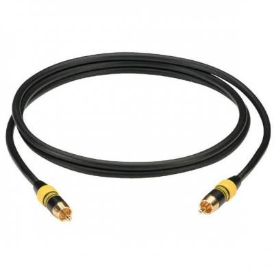 Black box : Deluxe Video Cable, 1 x RCA Connector on Each End, 1 x Male to 1 x Male, 1.5-m - Zwart