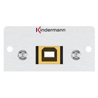 Kindermann 7444000525 Wandcontactdoos - Aluminium