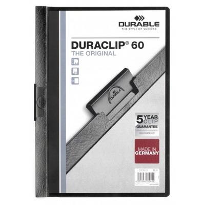 Durable Duraclip 60 Stofklepmap - Zwart, Transparant