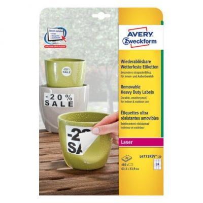 Avery etiket: L4773REV-20 - Wit