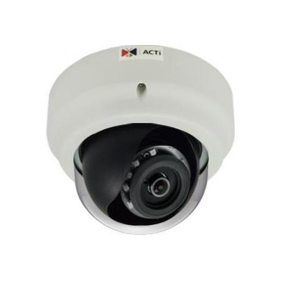 """Acti beveiligingscamera: 1/2.3"""" CMOS, 3648 x 2736px, 6.08W PoE, 40m IR, 113.9x146mm, 510g, Black/White - Zwart, Wit"""