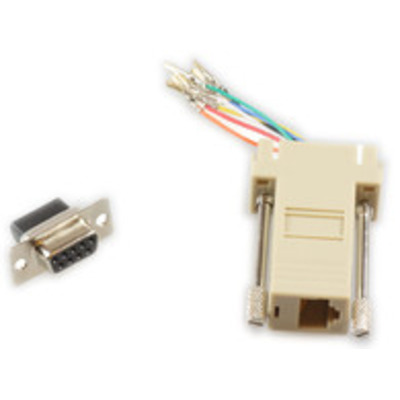Microconnect SAD008 - RJ45-DB9 Kabel adapter - Beige