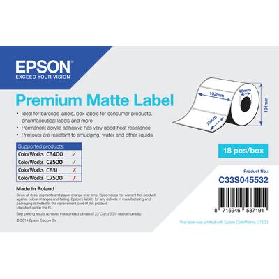 Epson Premium Matte Label Etiket - Wit