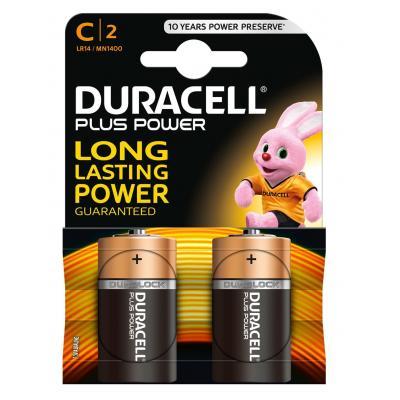 Duracell batterij: Plus Power alkaline C-batterijen, verpakking van 2