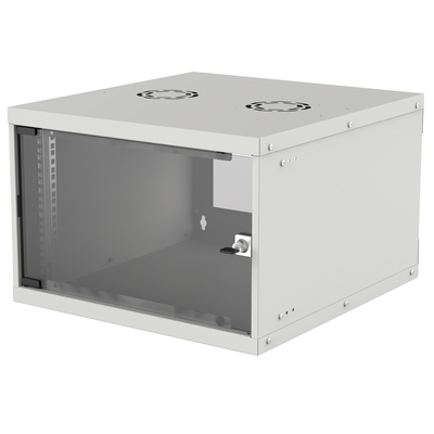 "Intellinet 19"" Basic Wallmount Cabinet, 6U, 560mm Deep, IP20-Rated Housing, Max 50kg, Flatpack, Grey Rack - ....."