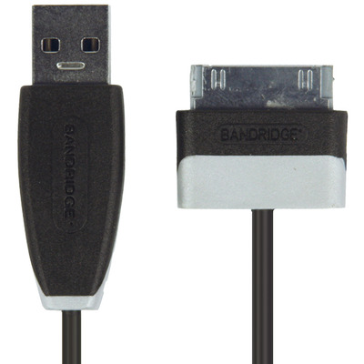 Bandridge 1m USB - Lightning m/m Kabel - Zwart