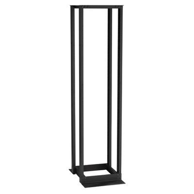 """Black Box 51U, 19"""", 12-24 Rails Rack - Zwart"""