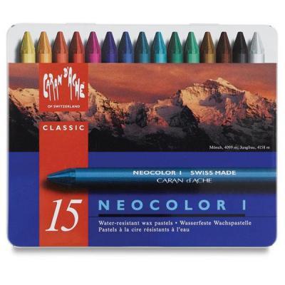 Caran d-ache pastel: NEOCOLOR I - Blauw, Multi kleuren