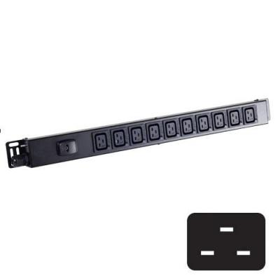 Black Box Click-Lock C19 Power Strips Energiedistributie - Zwart