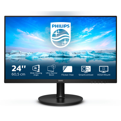 "Philips V-Line 24"" FHD VA Monitor - Zwart"
