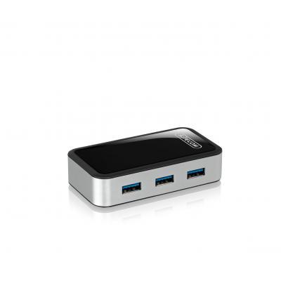 Sitecom hub: CN-072 USB 3.0 Fast Charging Hub 4 Port  - Zwart, Grijs