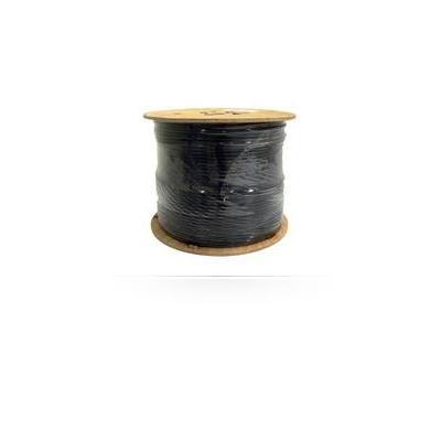 Digiality coax kabel: Coax cbl NAP48 1.13/4.8/7.3mm, Ground cable, black, 500m - Zwart