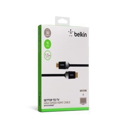 Belkin HDMI kabel: HDMI, 1.5m - Zwart