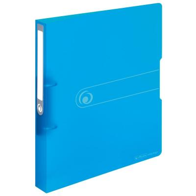 Herlitz 2-ring binder PP A4 25mm transparent blue Ringband - Blauw