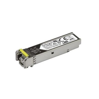 Startech.com netwerk tranceiver module: MSA conform 100 Mbps glasvezel SFP ontvanger module 100Base-BX (Downstream) SM .....