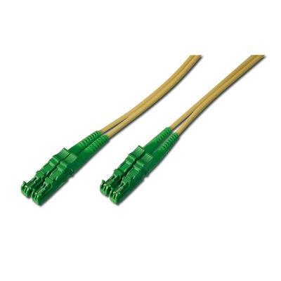 ASSMANN Electronic E2000-E2000,15m Fiber optic kabel - Groen,Geel