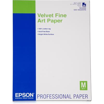 Epson Velvet Fine Art Paper, DIN A2, 260g/m², 25 Vel Grootformaat media