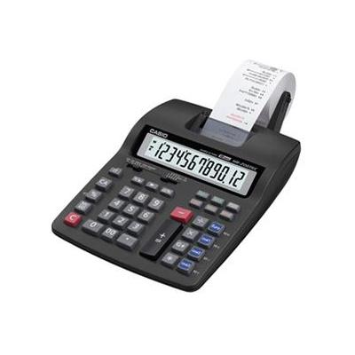 Casio calculator: HR-200TEC, 12-digits LCD, 4 x AA, 144 lpm - Zwart