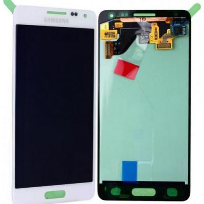 Samsung mobile phone spare part: SM-G850F Galaxy Alpha, Complete Display LCD+Touchscreen, white