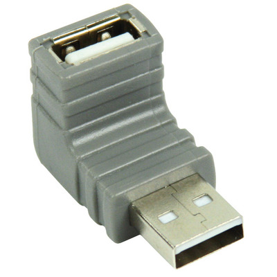 Bandridge 270° Angled USB 2.0 Kabel adapter - Grijs