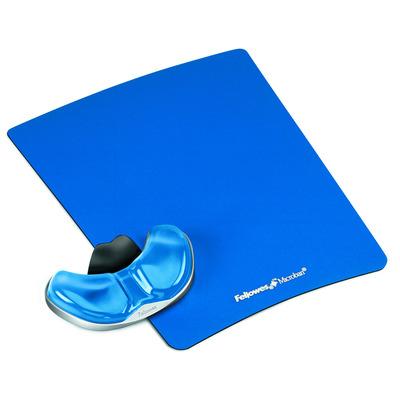Fellowes Health-V Crystal gliding palmsteun blauw Muismat