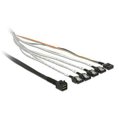 DeLOCK 1m, SFF-8643/4 x SATA 7p Kabel - Multi kleuren