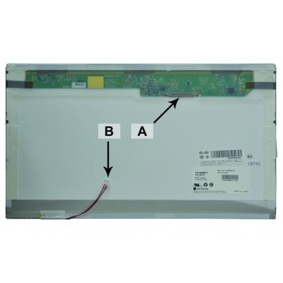 2-power notebook reserve-onderdeel: 15.6'' WXGA HD 1366x768 CCFL1 Glossy - Zwart
