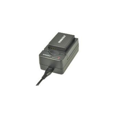 Duracell oplader: USB, 5V, Replacement f/ Panasonic DMW-BLD10/DMW-BLC12 - Zwart