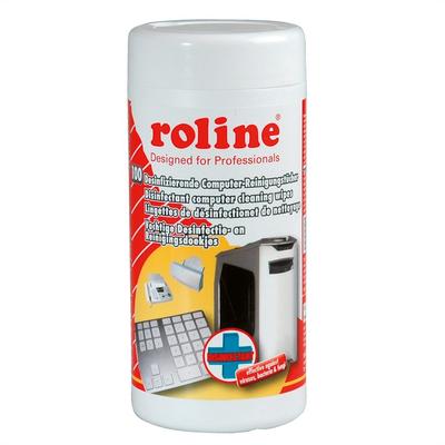 ROLINE Desinfecterende Computer reinigingsdoekjes 100 stuk Reinigingskit - Grijs