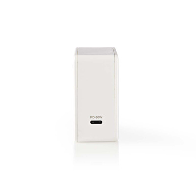 Nedis Wall Charger, 3.0 A, USB-C, Power Delivery 60 W, White Oplader - Wit