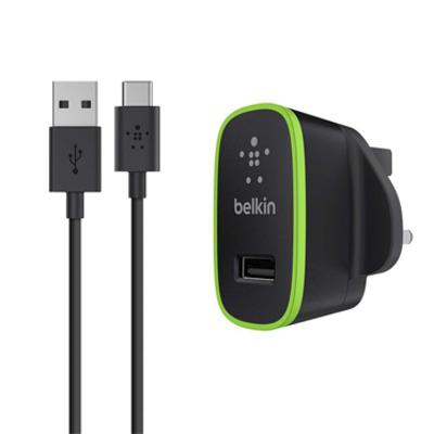Belkin oplader: Câble USB-C vers USB-A avec chargeur secteur universel - Zwart, Groen
