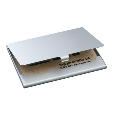 Sigel visitekaarthouder: Etui voor visitekaartjes - Zilver