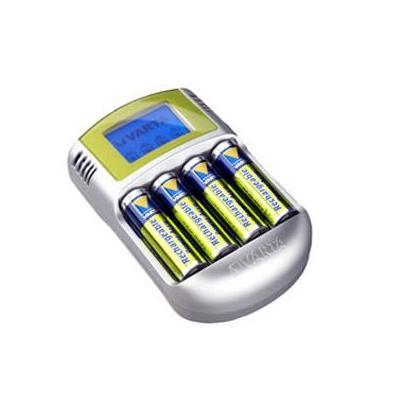 Varta oplader: Power LCD - Zilver