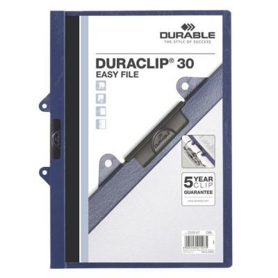 Durable stofklepmap: DURACLIP 30 EASY FILE - Blauw