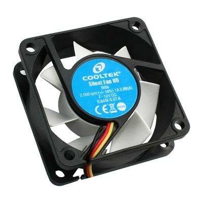 Cooltek Silent Fan 60 Hardware koeling - Zwart, Wit