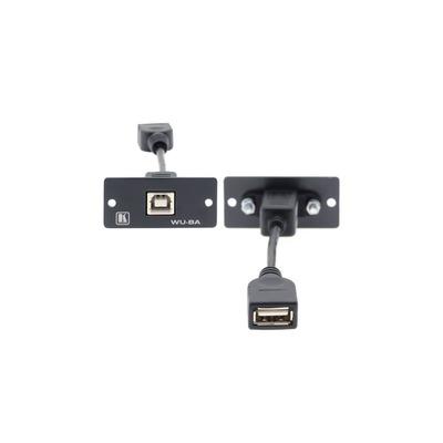 Kramer Electronics Wall Plate Insert — USB (B/A) USB kabel - Zwart