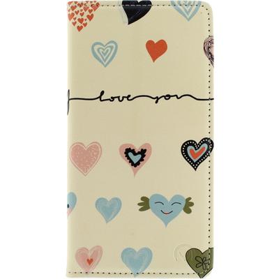 Mobilize Magnet Book Stand Case Samsung Galaxy Alpha - I Love You Mobile phone case - Multi kleuren