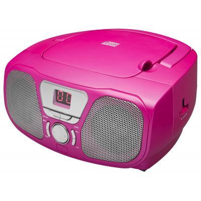 Bigben interactive CD-radio: Draagbare radio / CD speler met stickers - Roze