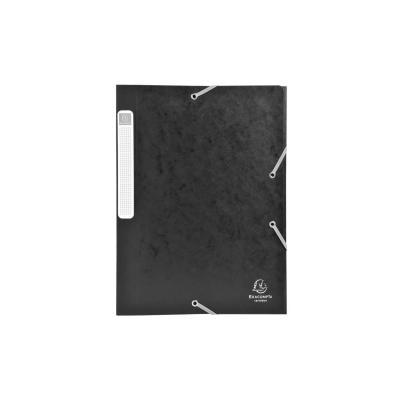 Exacompta archiefdoos: Archiefdoos plat geleverd Cartobox Rug 25mm versterkt karton - A4 - Zwart