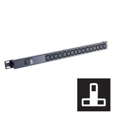 Black Box Standard C13 Power Strip Energiedistributie - Zwart