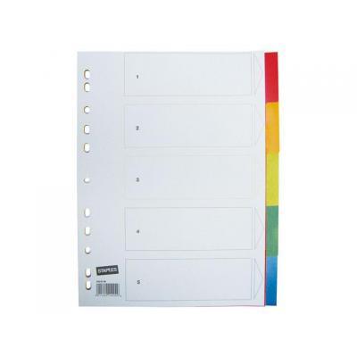 Staples schutkaart: Tabblad SPLS A4 11r kleuren pp/set 5